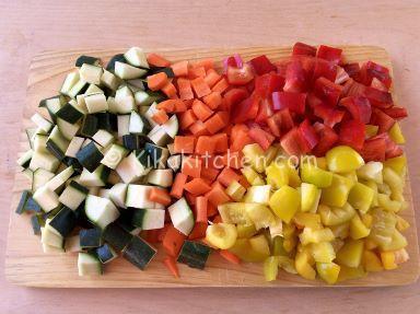 melanzane peperoni zucchine al forno