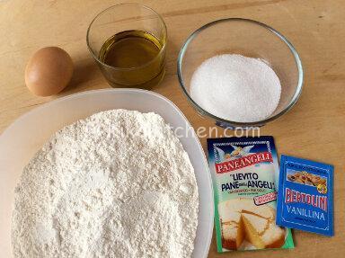 ingredienti biscotti con olio