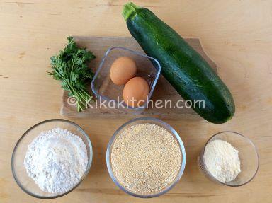 ingredienti cotolette di zucchine