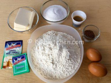 ingredienti pasta frolla al caffe