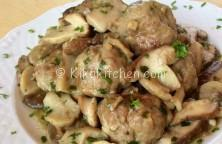 ricetta polpette funghi porcini