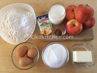 ingredienti ciambella alle mele