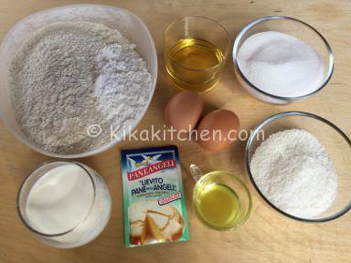 ingredienti muffin al cocco