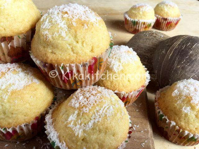 muffin al cocco soffici