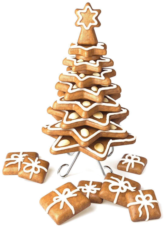 set stampini per biscotti a forma di alberi di natale