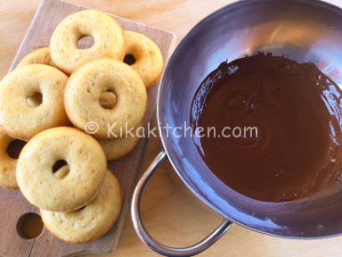 ciambelle al forno cioccolato