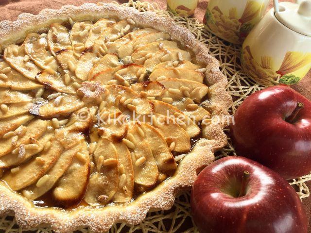 Crostata di mele con marmellata. Ricetta passo passo