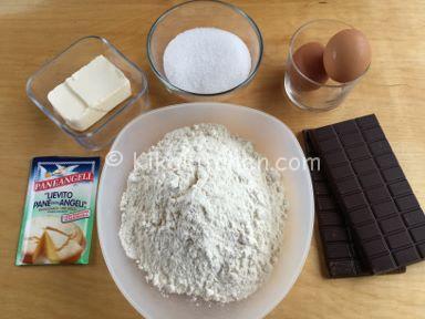 ingredienti biscotti al cioccolato morbidi