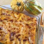 lasagne con la zucca e scamorza