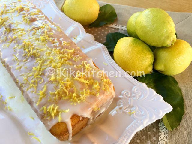 plumcake cake glassato al limone