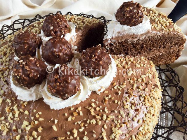 torta ferrero rocher con nutella
