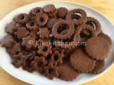 biscotti occhi di bue al cacao