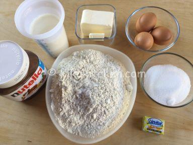 ingredienti pan brioche alla nutella