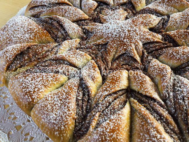 pan brioche alla nutella (stella di pan brioche)