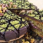 Torta cioccolato e pistacchio farcita con nutella