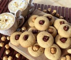 Biscotti con nocciole tostate. Ricetta passo passo