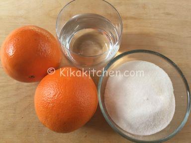 caramellare le arance