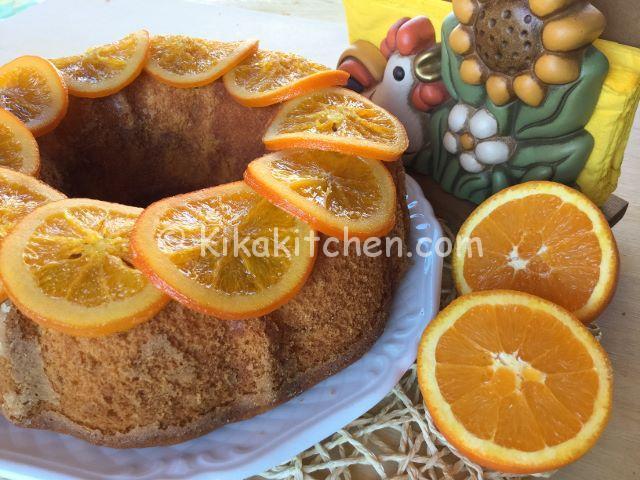 ciambella all'arancia morbida