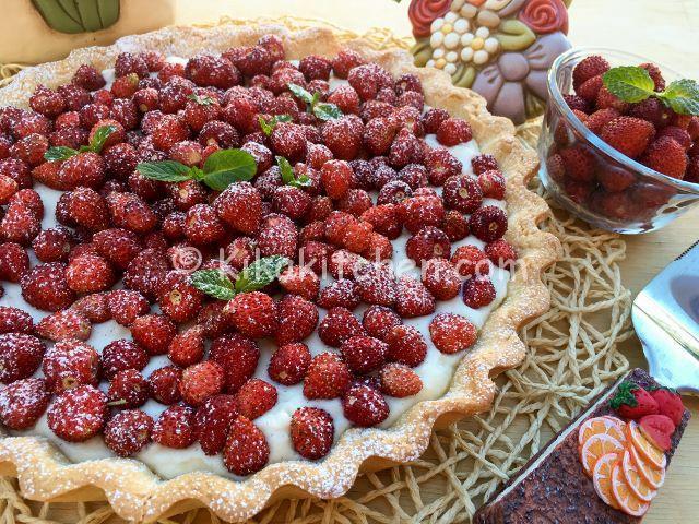 crostata ricotta e fragoline
