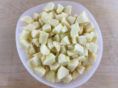 crumble di mele con pandoro