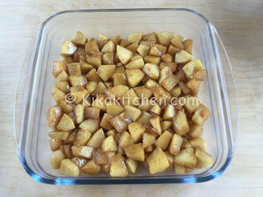 crumble di mele e pandoro ricetta