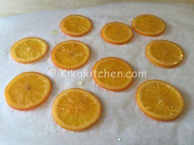 fettine di arancia caramellate
