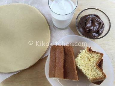 ingredienti crostata con pandoro e nutella