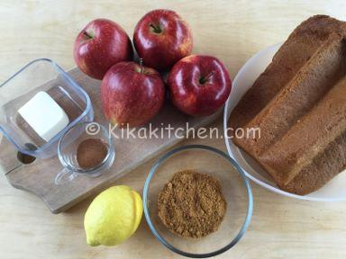ingredienti crumble di mele e pandoro