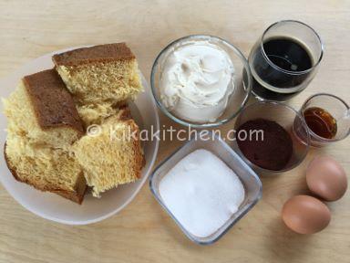 ingredienti tiramisu con pandoro