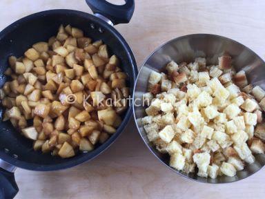 ricetta crumble di mele e pandoro