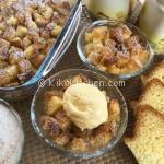 Crumble di mele e pandoro avanzato