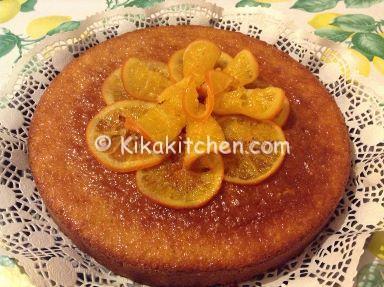 torta con arance caramellate