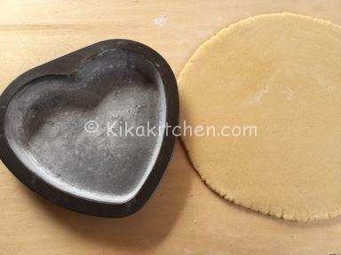 crostata cuore con nutella