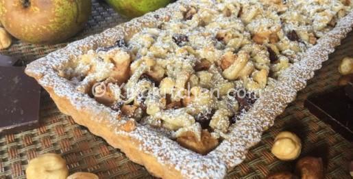 crostata pere e cioccolato fondente