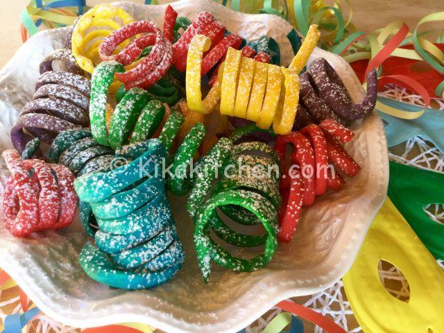 dolci di carnevale stelle filanti