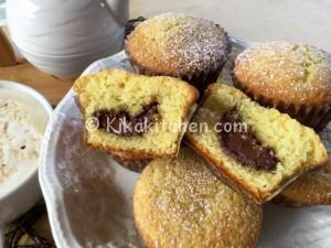 Muffin con cuore di nutella alti e soffici