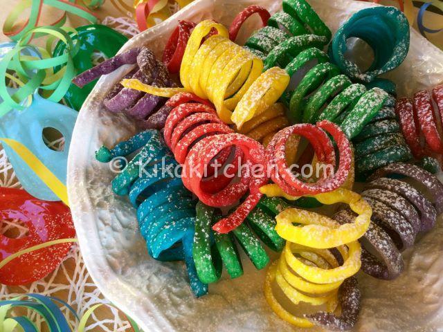 stelle filanti colorate dolci