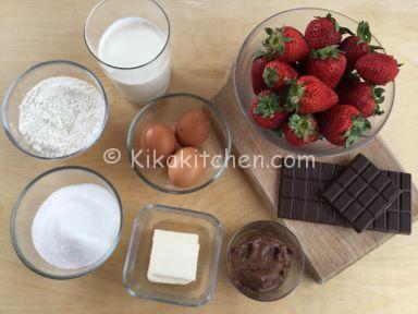 ingredienti crostata morbida cioccolato panna e fragole