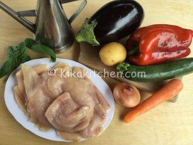 ingredienti straccetti di pollo con verdure