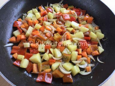 patate carote e peperoni