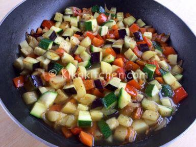 straccetti di pollo con verdure miste