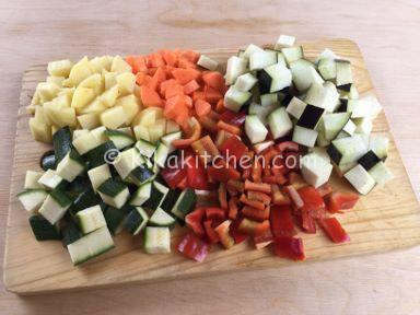 verdure per straccetti di pollo