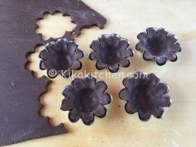 cestini di frolla al cacao