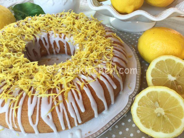 ciambella al limone con glassa