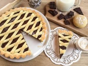 Crostata al cioccolato fondente o al latte