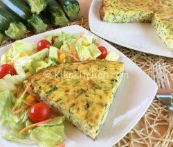 Frittata di zucchine al forno. Ricetta facile e veloce