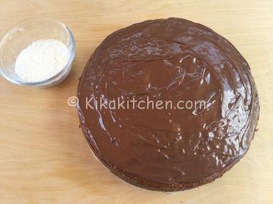 guarnire torta cocco e nutella