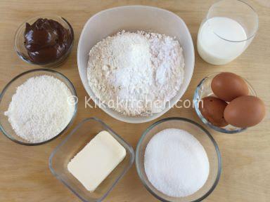 ingredienti cocco e nutella