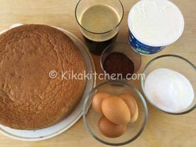 ingredienti torta tiramisù