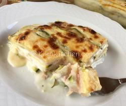 Parmigiana bianca di zucchine. Ricetta facile e veloce